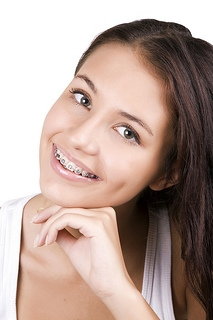Girl with smile and braces