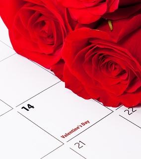 Rose on February calendar
