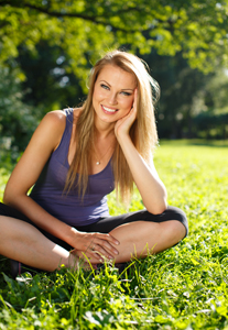 Young Woman on Grass